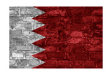 Bahrain Flag Graphic On Wall Poster by simon johnsen