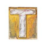 Wooden Alphabet Block, Letter T Prints by  donatas1205