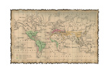 Ancient Map Of The World Prints by  aelita