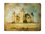 Saumur Castle - Vintage Card Prints by  Maugli-l