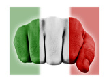 Fist With Italian Flag Posters by  macky_ch