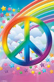 Peace Sign - Rainbows Print