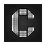 Letter Metal Chrome Ribbon - C Prints by  Ecelop