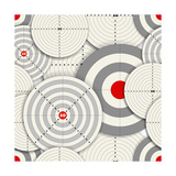 Seamless Background Of Targets Premium Giclee Print by  tovovan