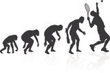 Evolution Of The Tennis Player Affiches par  jorgenmac