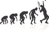 Evolution Of The Tennis Player Print by  jorgenmac