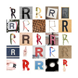 Collage Of Images With Letter R Posters by  gemenacom