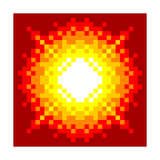 8-Bit Pixel-Art Explosion Prints by  wongstock