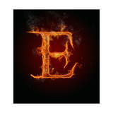 "Fire Flaming Letter ""E"" Art by  Jag_cz"