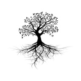 Old Black Tree With Roots Posters par Olivier Le Moal