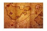 Old Map With A Compass On It Art by  molodec