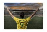 Brazilian Soccer Player Print by Beto Chagas