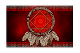 Dreamcatcher On Red Background Posters by  Sateda
