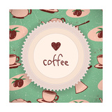 Coffee Background In Retro Style Print by Volkov Roman