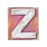 Wooden Alphabet Block, Letter Z Print by  donatas1205