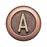 Metal Button Alphabet Letter Posters by  donatas1205