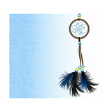Dreamcatcher On Blue Background Prints by  Sateda