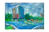 Hotel And Swimming Pool Prints by Boyan Dimitrov