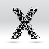 Letter X Formed By Inkblots Posters by Black Fox
