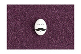 Single Egg On The Purple Sand Prints by  alexey_boldin