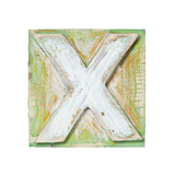 Wooden Alphabet Block, Letter X Premium Giclee Print by  donatas1205