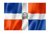 Dominican Republic Flag Reproduction giclée Premium par  daboost