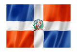 Dominican Republic Flag Print by  daboost