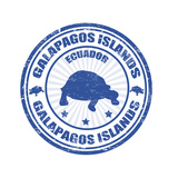 Galapagos Islands Stamp Poster af radubalint