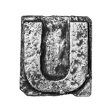 Metal Alloy Alphabet Letter U Posters by  donatas1205