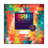 Hipster Background In Retro Style Prints by  incomible