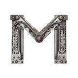 Industrial Metal Alphabet Letter M Reproduction giclée Premium par  donatas1205
