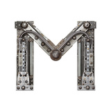 Industrial Metal Alphabet Letter M Premium Giclee Print by  donatas1205