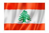 Lebanese Flag Prints by  daboost