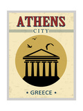 Parthenon From Athens Poster Plakater af radubalint