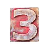 Wooden Alphabet Block, Number 3 Reproduction giclée Premium par  donatas1205