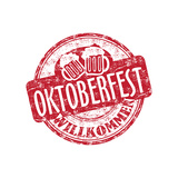 Oktoberfest Grunge Rubber Stamp Prints by  oxlock