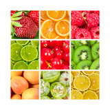 Collage Of Fresh Fruits Prints by  Natalyka