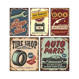 Vintage Car Metal Signs And Posters Posters by  Lukeruk