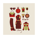 Woman Clothes And Accessories Print by  yemelianova