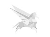 Illustration Of An Origami Pegasus Posters par  unkreatives