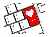 Computer Keyboard Love Prints by  Oakozhan