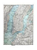 Old Street Map Of New York City Posters by  Tektite
