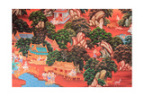 Mural Painting In The Temple Prints by  someman