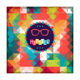 Hipster Background In Retro Style Posters by  incomible