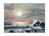 Sea Sunset, Oil Painting Affiches par  Lilun