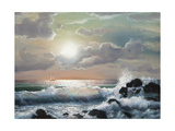 Sea Sunset, Oil Painting Prints by  Lilun
