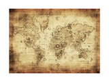 Ancient Map Of The World Plakaty autor javarman