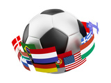 3D World Soccer Ball Print by  bioraven