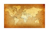 Detailed Old World Map Posters by  goliath