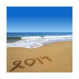 2014 Written On Sandy Beach Prints by  viperagp